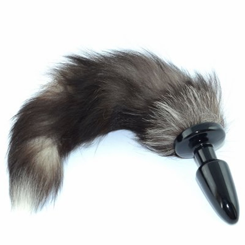 Anal plug fox tail