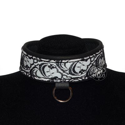 Leather and Lace Submissive Collar