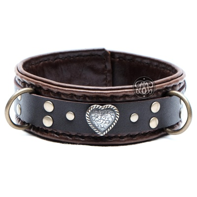 Love Submissive Collar - Brown