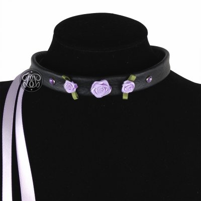 Purple Rose Submissive Collar