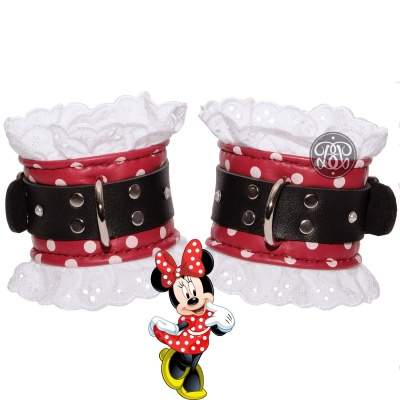 Minnie Mouse Leather Cuffs