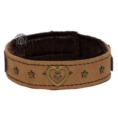 Velvet Heart Suede Submissive Collar