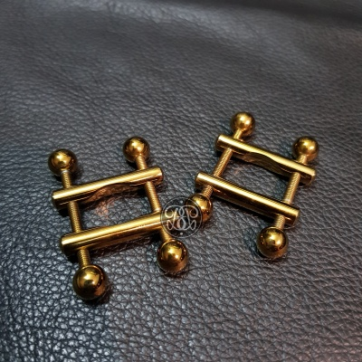 Adjustable Steel Nipple Clamps - Gold