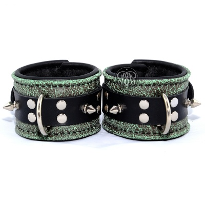 Mint Crackle Submissive Cuffs